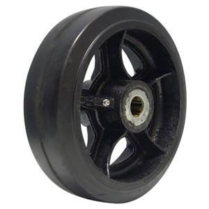 Rubber on Cast Iron Wheels